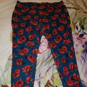 Floral jeggings plus size 3xl